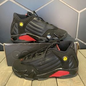 2011 Air Jordan 14 Retro GS Last Shot Black Shoes